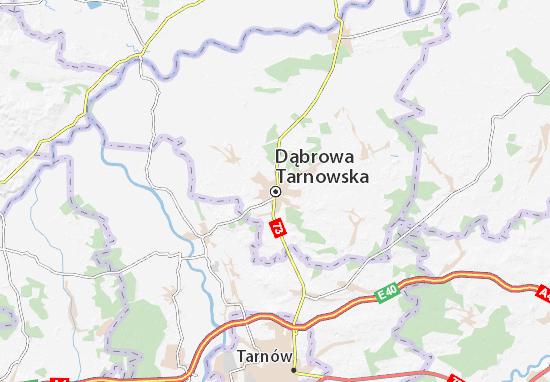 Mapa Plano Dąbrowa Tarnowska