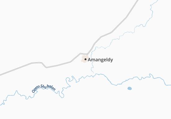 Carte-Plan Amangeldy