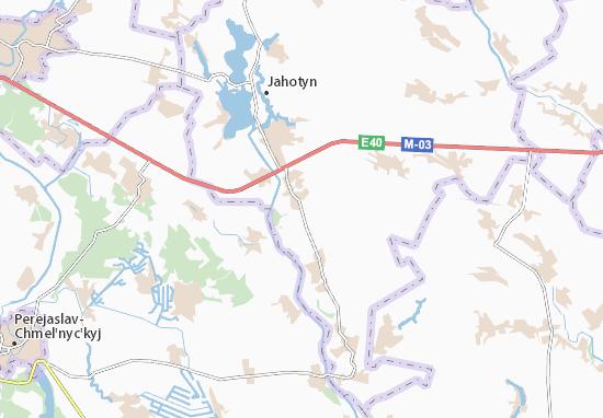 Mapa Plano Nychyporivka