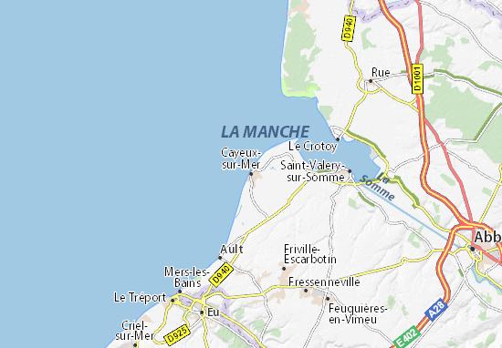 Kaart Plattegrond Cayeux-sur-Mer