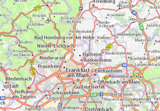 Harheim Map: Detailed maps for the city of Harheim - ViaMichelin