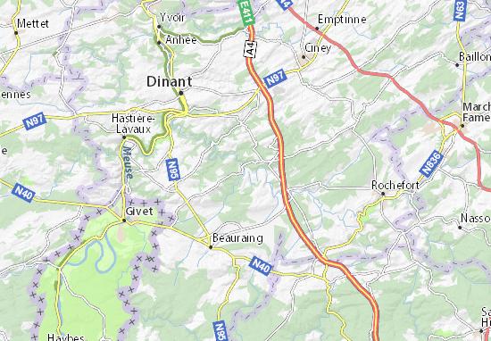 Houyet Map