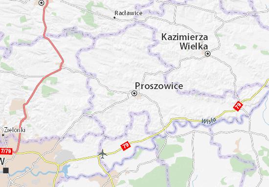Mapa Proszowice