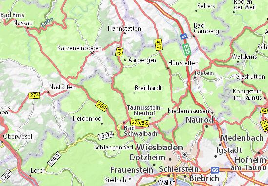 Karte Stadtplan Breithardt
