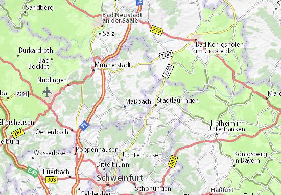 Unterfranken Karte.Karte Stadtplan Thundorf In Unterfranken Viamichelin