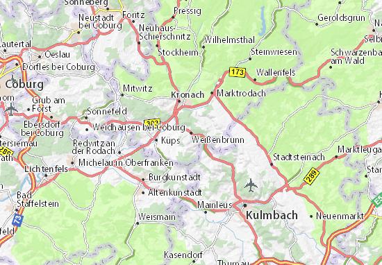 Carte-Plan Weißenbrunn