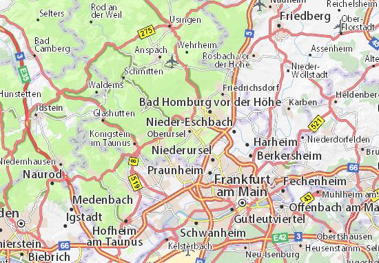 Karte Stadtplan Oberursel