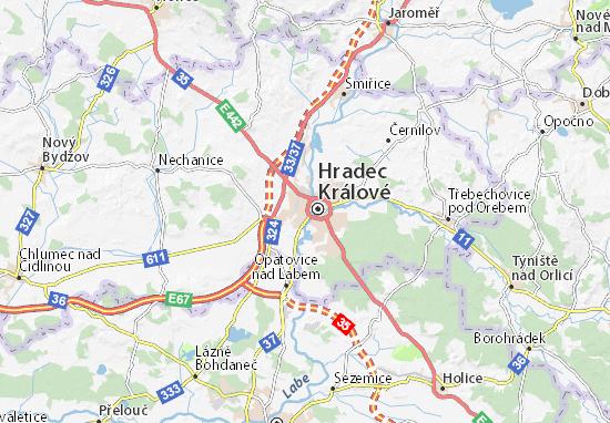 Hradec Králové Map