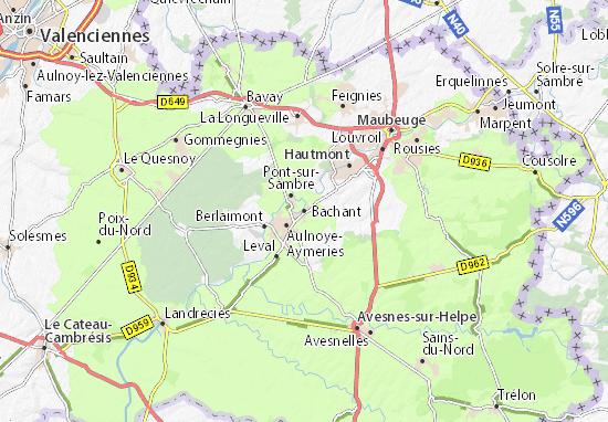 Kaart Plattegrond Bachant