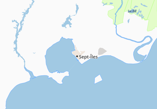 Map Sept Iles Sept Îles Map: Detailed maps for the city of Sept Îles   ViaMichelin