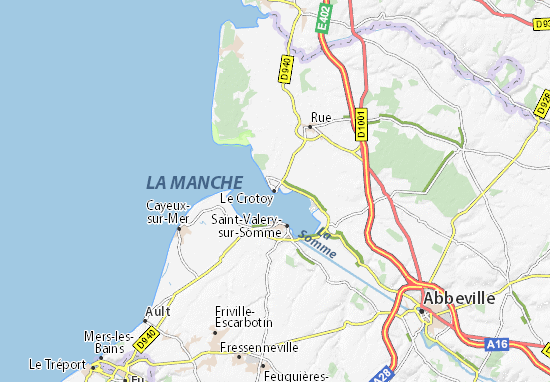 Kaart Plattegrond Le Crotoy
