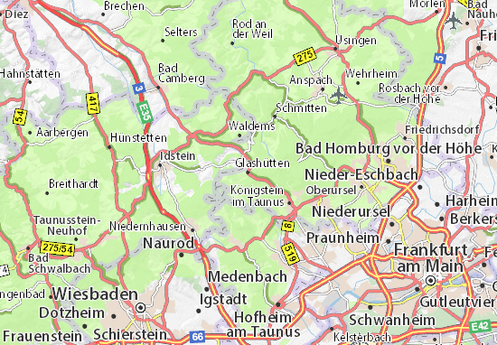 Glashütten Map