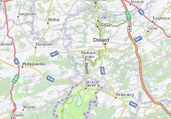 Carte-Plan Hastière-Lavaux