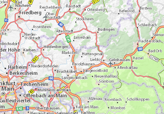 Budingen Germany Map.Detailed Map Of Huttengesass Huttengesass Map Viamichelin
