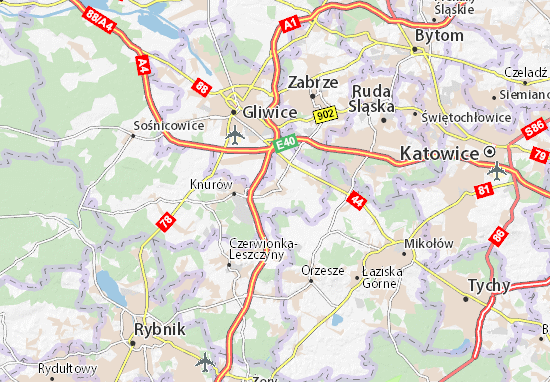 Karte Stadtplan Gierałtowice