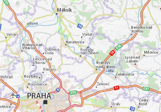 Mapas-Planos Kostelec nad Labem