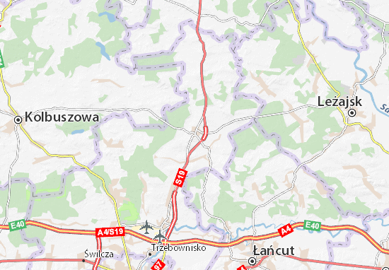 Mapa Sokołów Małopolski