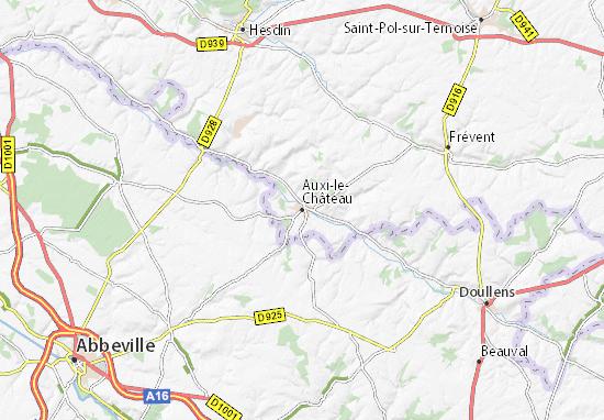 Auxi-le-Château Map