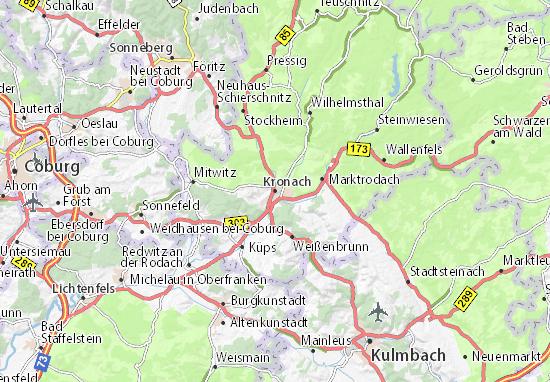 Kaart Plattegrond Kronach