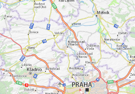 Mapa Plano Kralupy nad Vltavou
