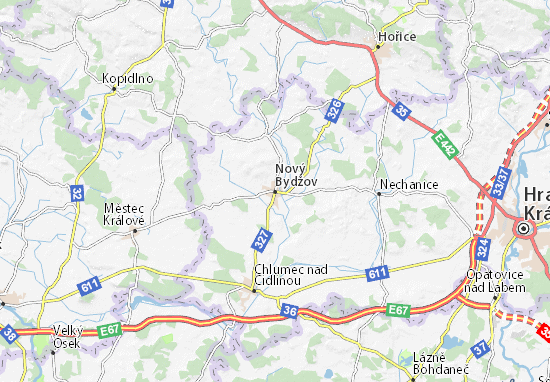 Carte-Plan Nový Bydžov