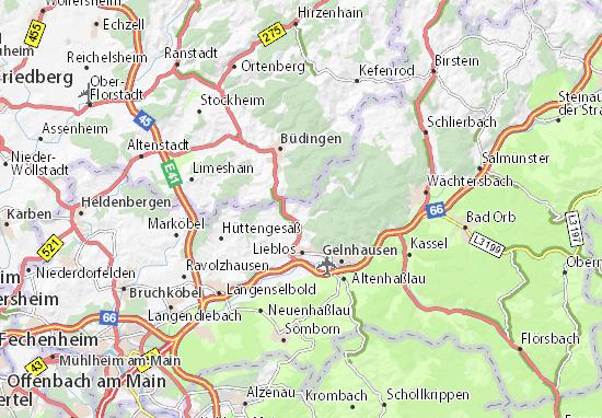 Karte Stadtplan Hain-Gründau