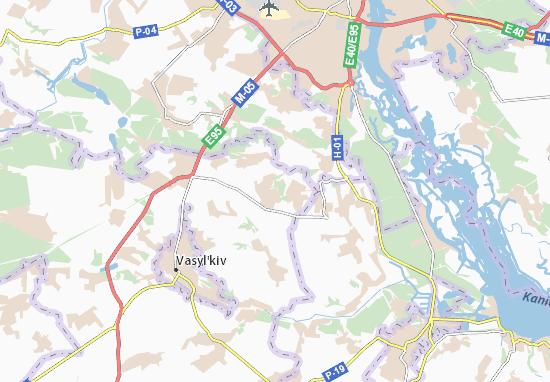 Carte-Plan Roslavychi