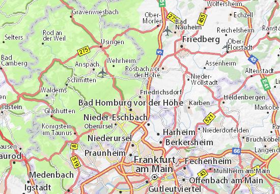 Carte-Plan Friedrichsdorf