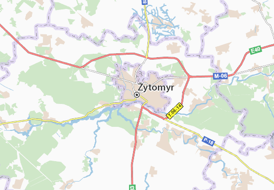 Carte-Plan Žytomyr
