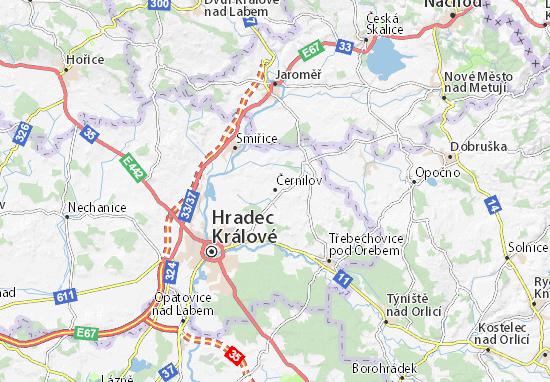Mapa Plano Černilov
