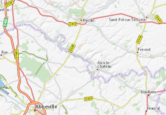 Map Of Gennes Ivergny Michelin Gennes Ivergny Map Viamichelin