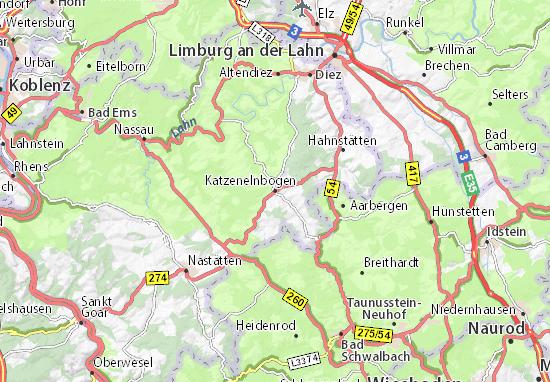Karte Stadtplan Katzenelnbogen