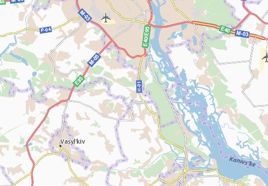 Mapas-Planos Khodosivka
