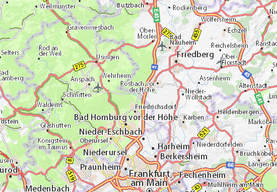 Köppern Map: Detailed maps for the city of Köppern - ViaMichelin