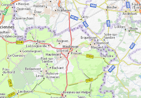 Carte-Plan Maubeuge