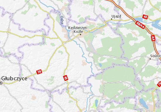 Mapa Cisek