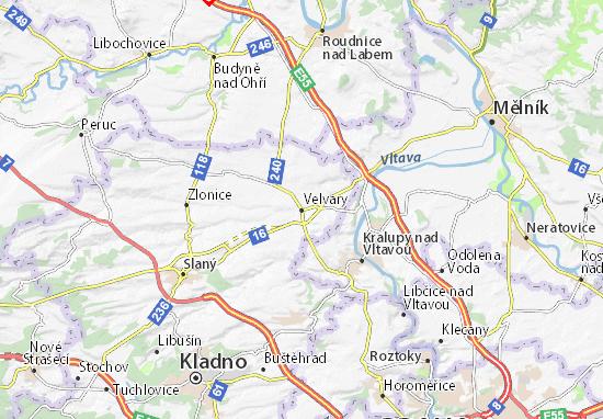 Mapa Plano Velvary