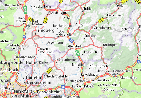 Budingen Germany Map.Altenstadt Map Detailed Maps For The City Of Altenstadt Viamichelin