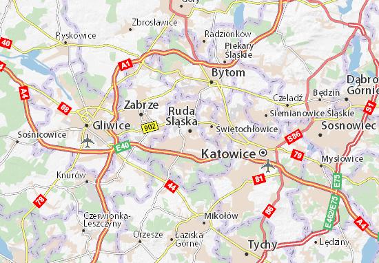 Mapa Ruda Śląska