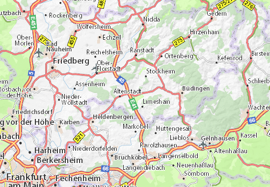 Budingen Germany Map.Detailed Map Of Lindheim Lindheim Map Viamichelin