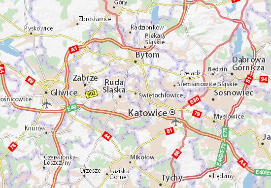 Karte Stadtplan Świętochłowice