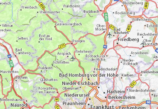 Kaart Plattegrond Wehrheim
