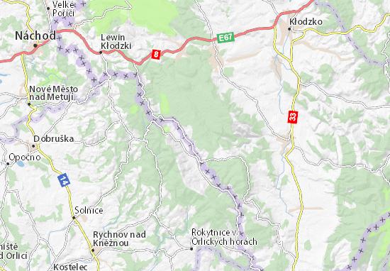 Mapa Lasówka Plan Lasówka Viamichelin