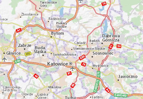 Mapa Siemianowice Śląskie