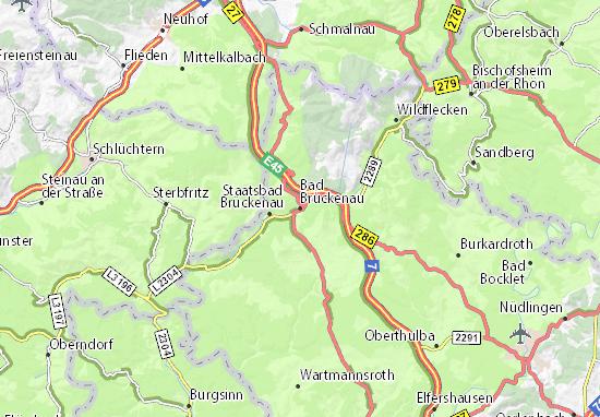 Karte Stadtplan Bad Brückenau