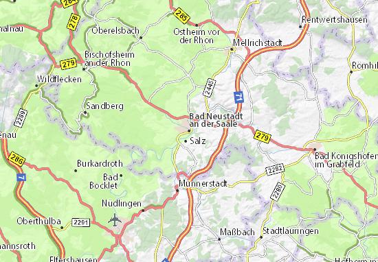 Karte Stadtplan Bad Neustadt an der Saale