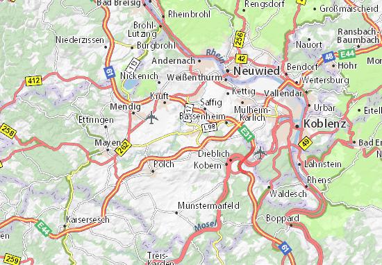 Karte Stadtplan Ochtendung