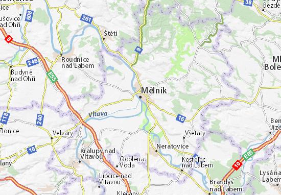Karte Stadtplan Mělník