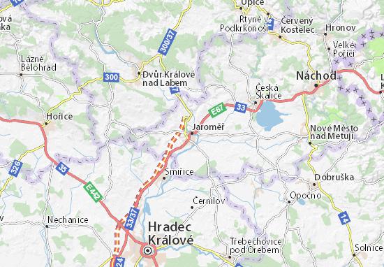 Mapa Jaroměř