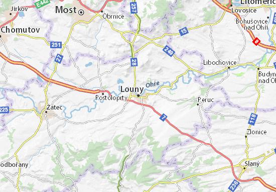 Louny Map